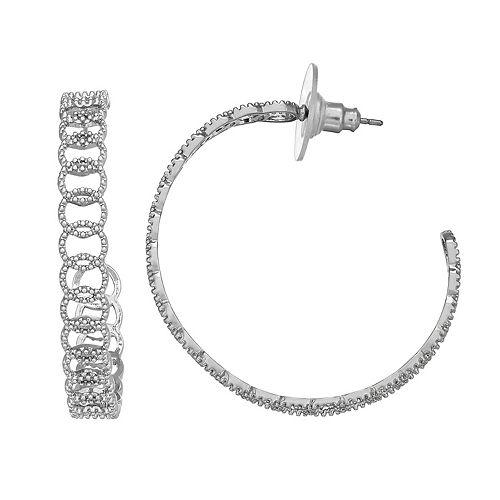 SONOMA Goods for Life™ Millgrain Chain Link Hoop Earrings