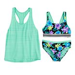 Girls 7-16 ZeroXposur Desert Rose Tank, Top & Bottoms Swimsuit Set