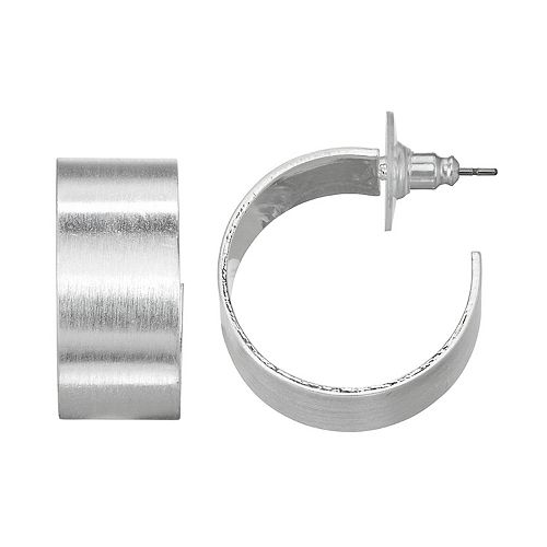 SONOMA Goods for Life™ Silver Tone Chunky Metal Hoop Earrings