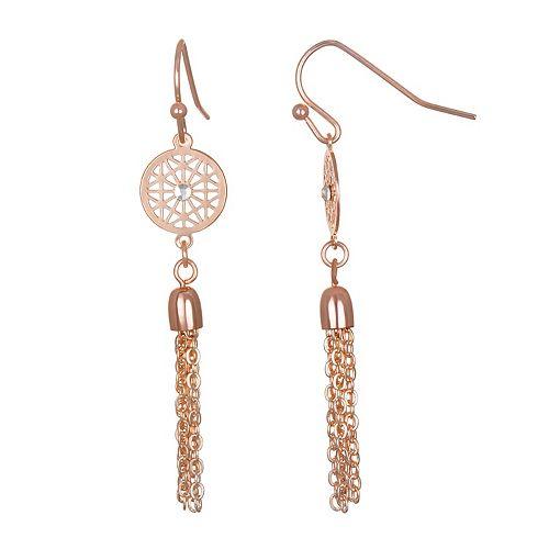 LC Lauren Conrad Filigree & Tassel Nickel Free Drop Earrings