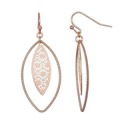 LC Lauren Conrad Orbital Filigree Nickel Free Drop Earrings