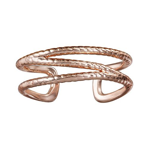 LC Lauren Conrad Rose Gold Tone Braided Ring