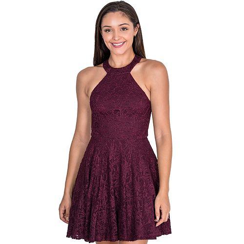 Juniors' B. Smart Halterneck Party Dress