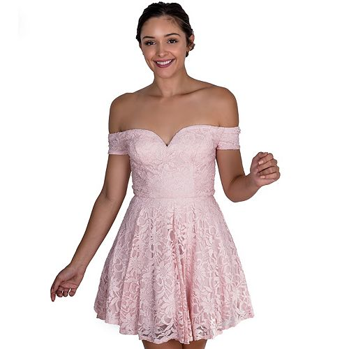 Juniors' B. Smart Sweetheart Off-Shoulder Party Dress
