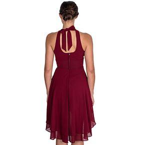 Juniors B. Smart High-Low Halter Dress