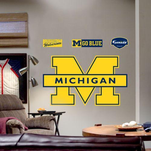 Fathead University of Michigan Wolverines Maize Logo Wall Decal