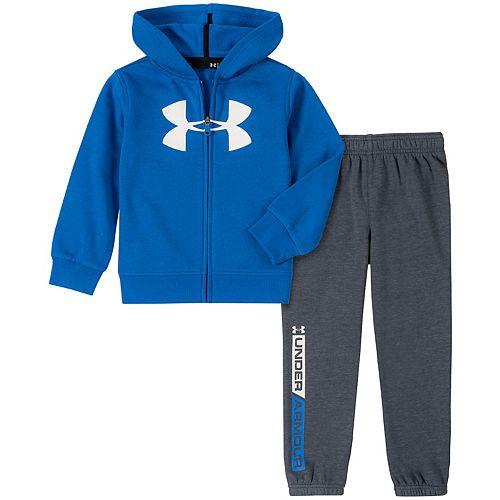 Boys 4-7 Under Armour Logo Zip Hoodie & Jogger Pants Set