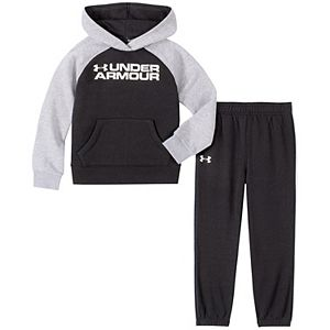 Boys 4-7 Under Armour Logo Pullover Raglan Hoodie & Pants Set