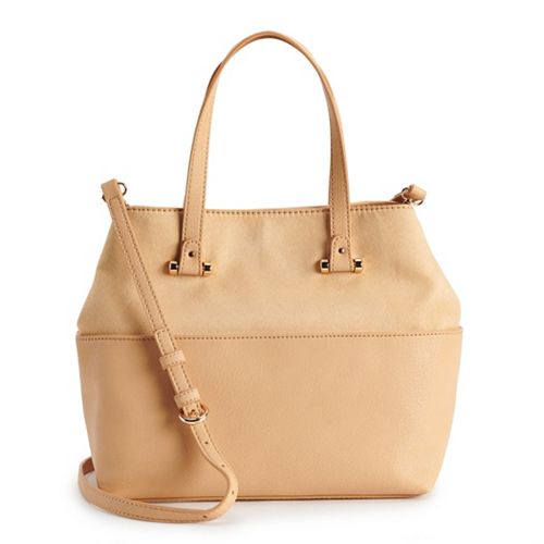 LC Lauren Conrad Drawstring Crossbody Bucket Bag