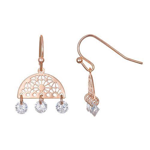 LC Lauren Conrad Filigree & Cubic Zirconia Nickel Free Drop Earrings