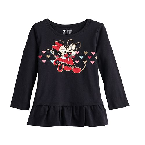 Disney's Mickey and Minnie Mouse Girls 4-12 Asymetrical Peplum Top By Jumping Beans®