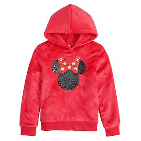Disney's Minnie Mouse Girls 4-12 Velour & Sequined Pullover Hoodie by Jumping Beans®