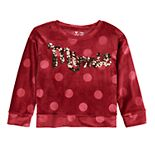 "Disney's Minnie Mouse Girls 4-12 Velour Sequined ""Minnie"" Top by Jumping Beans®"