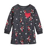 Disney's Minnie Mouse Toddler Girl Print Fleece Dress by Jumping Beans®