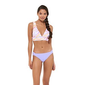 Mix and Match Tropical Print Midkini Top