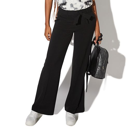 Juniors' Vylette™ Wide Leg Belted Pants