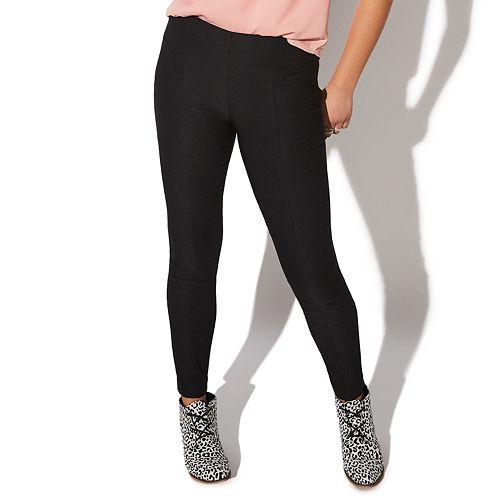 Juniors' Vylette™ Yoke Skinny Menswear Pull-on Pants