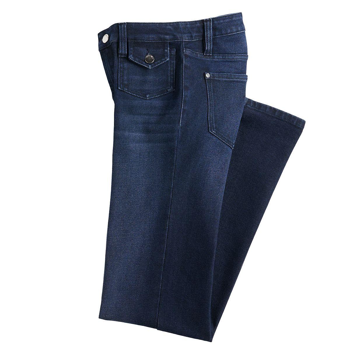 Women's Nine West High Rise Flare Jeans Black Night Wash U8E9J