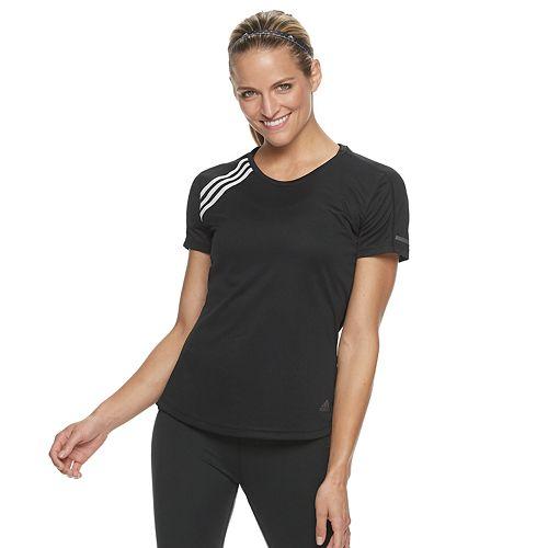 Women's adidas 3-Stripe Shoulder Running Tee