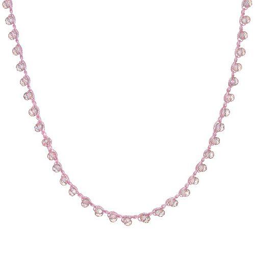 LC Lauren Conrad Pink Beaded Necklace