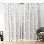 Nicole Miller NY 2-pack Hexa Geometric Print Hidden Tab Top Window Curtains