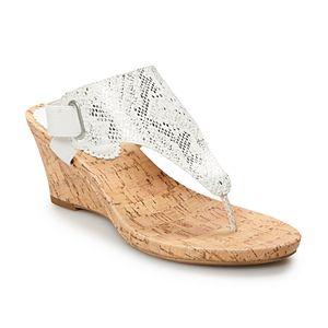Croft & Barrow Chow Chow Women's Wedge Sandals