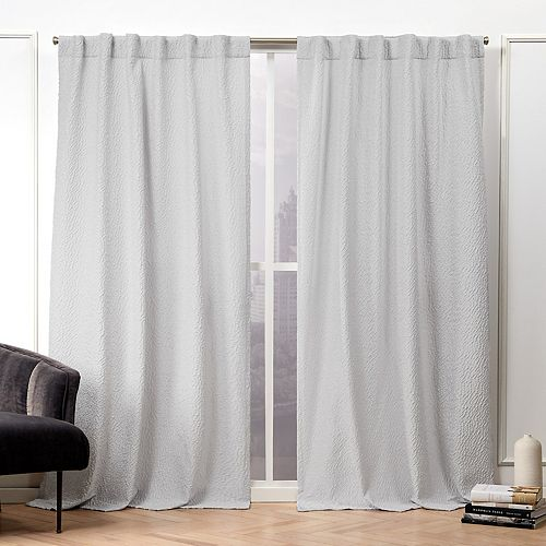 Nicole Miller 2-pack Textured Matelasse Hidden Tab Top Window Curtains