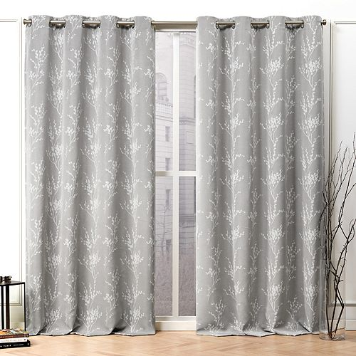 Nicole Miller 2-pack Turion Floral Blackout Grommet Top Window Curtains