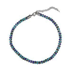 Napier Stone Mesh Collar Necklace