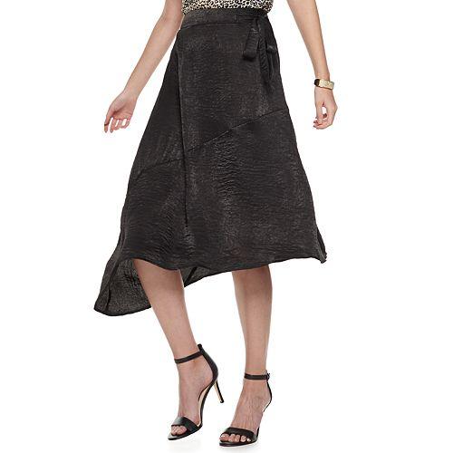 Petite Nine West Faux-Wrap Skirt
