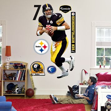 Fathead® Pittsburgh Steelers Ben Roethlisberger Wall Decal