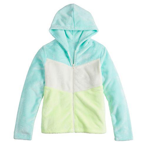 Girls 4-20 SO® Colorblock Sherpa Hoodie