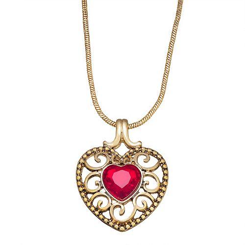 Napier Heart Stone Pendant