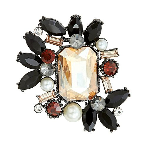 Napier Stone & Pearl Cluster Pin