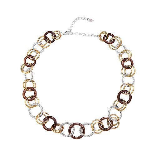 Napier Gold Silver Ring Collar Necklace