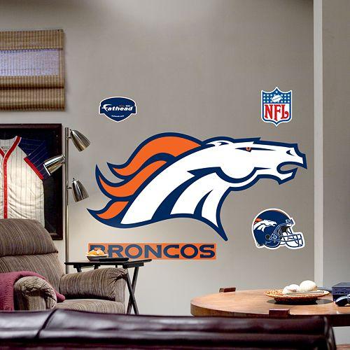 Fathead® Denver Broncos Logo Wall Decal