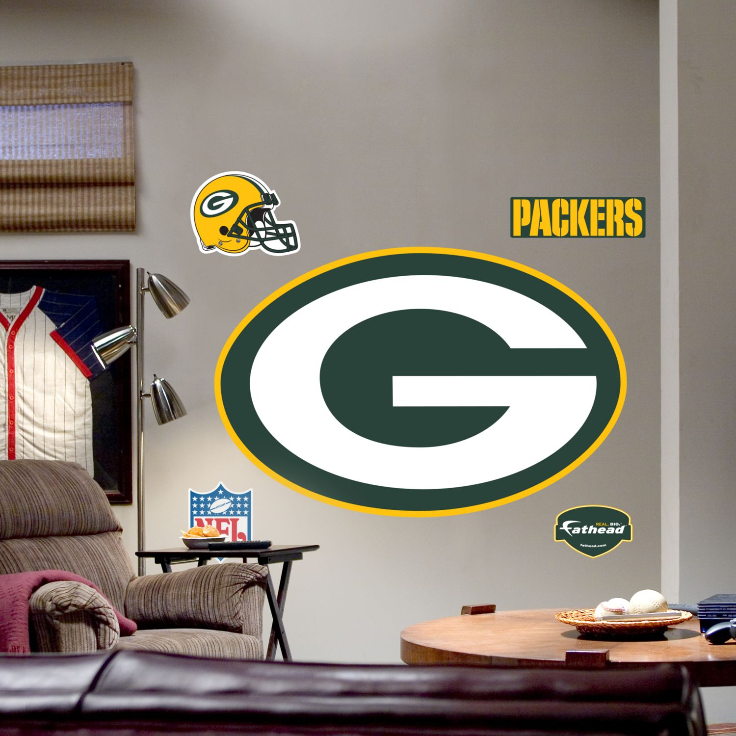 Superb Fathead® Green Bay Packers Logo Wall Decal Part 8