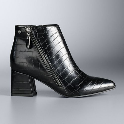 Simply Vera Vera Wang Croco Snake Ankle Boot