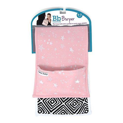 Girls Bazzle 2 Pack Diamonds & Pink Stars Pocket Burper