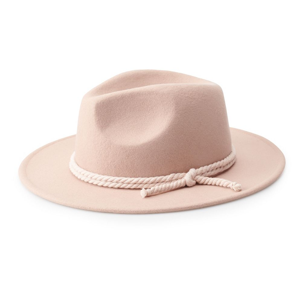 Women's SO® Felt Panama Hat with Rope Detail