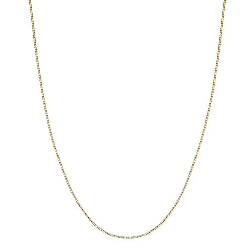 PRIMROSE 18k Gold over Sterling Silver Box Chain Necklace