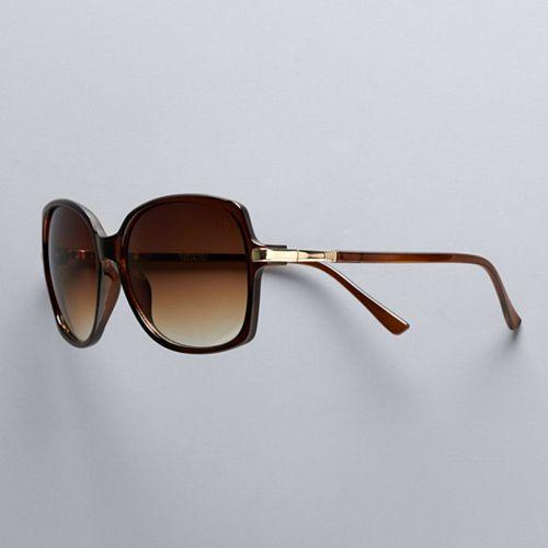 Women's Simply Vera Vera Wang 69mm Carey Large Square Sunglasses