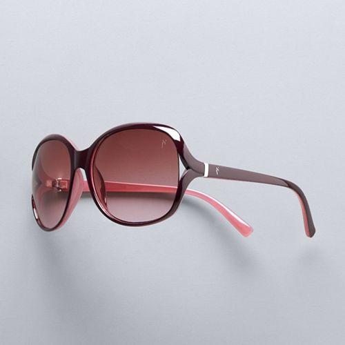 Women's Simply Vera Vera Wang 69mm Desert Large Square Sunglasses