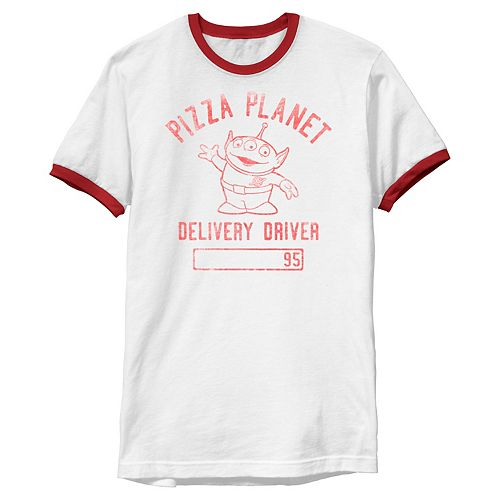 Men's Disney / Pixar Toy Story Pizza Planet Delivery Driver Ringer Tee