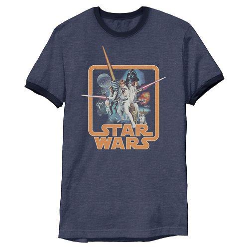 Men's Star Wars Classic A New Hope Ringer Tee
