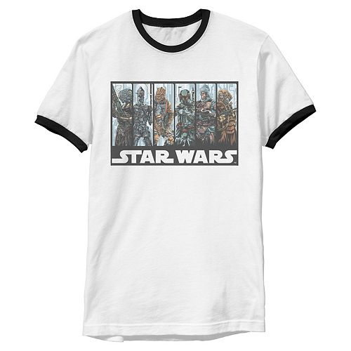 Men's Star Wars Bounty Hunters' Guild Ringer Graphic Tee