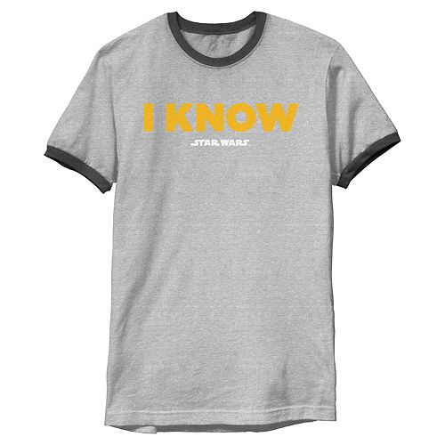 Men's Star Wars Han Solo I Know Ringer Tee