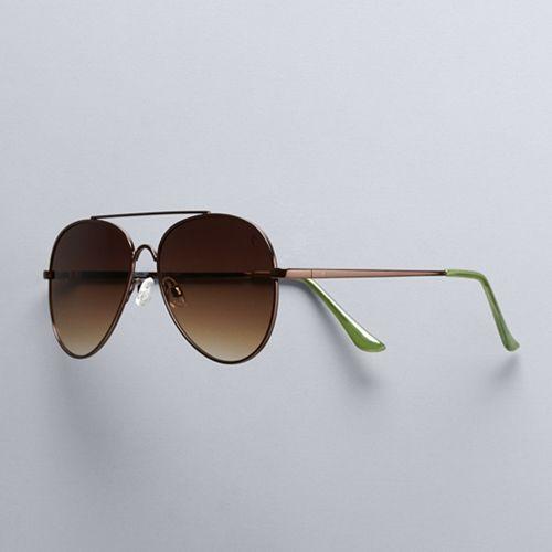 Women's Simply Vera Vera Wang 60mm Jourdain Aviator Sunglasses
