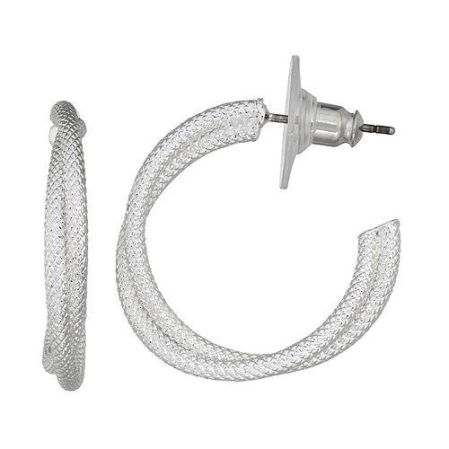 Napier Layered C-Hoop Earrings