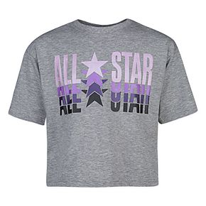 "Girls 7-16 Converse Metallic ""All Star"" Boxy Tee"